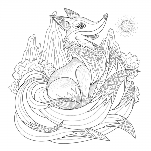 coloring-page-fox
