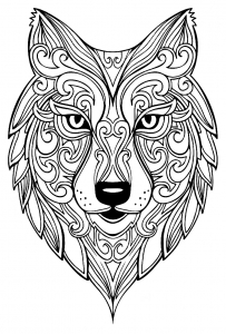 coloring-page-wolf