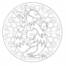 coloring-to-print-mandala-dragon-1 free to print