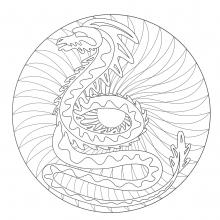 coloring-to-print-mandala-dragon-2 free to print