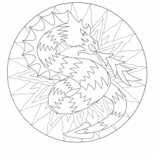 coloring-to-print-mandala-dragon-3 free to print