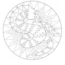coloring-to-print-mandala-dragon-3 free to print