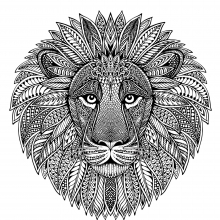 Lion head as mandala