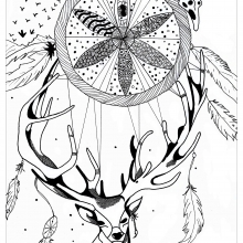 mandala deer dreamcatcher by valentin