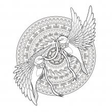 mandala-difficult-golondrinas-cinta-by-kchung free to print