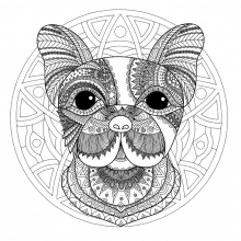 Mandala dog head 1