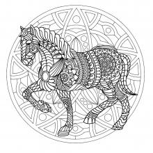 Mandala horse 1