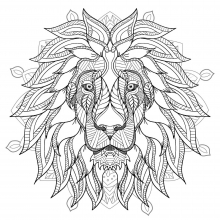 Mandala lion head 2