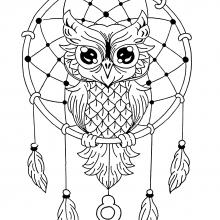 mandala owl dreamcatcher