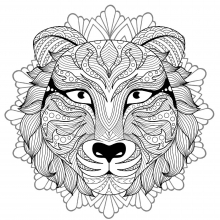 Mandala tiger head 4