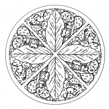 mandala-to-color-animals-free-ants free to print
