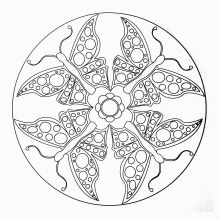 mandala-to-color-animals-free-butterflies free to print