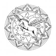 mandala-to-color-animals-free-licorn free to print