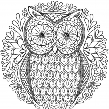 mandala-to-download-magical-owl free to print