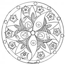 mandala to print fish sea star