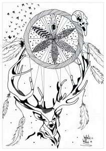 Deer Dreamcatcher Mandala