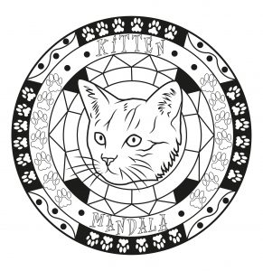 Mandala with kitten head