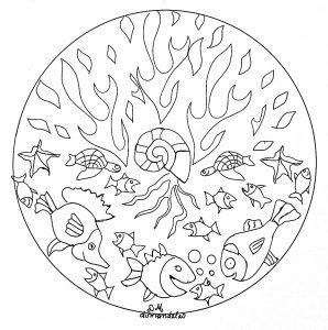 mandala to print seabed