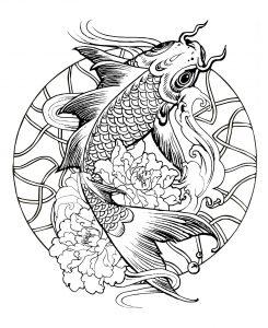 mandala with giant carp