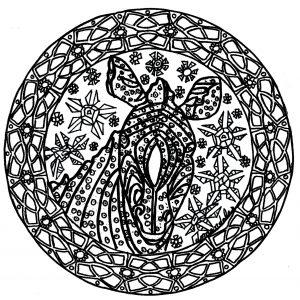 Hand drawn complex zebra Mandala