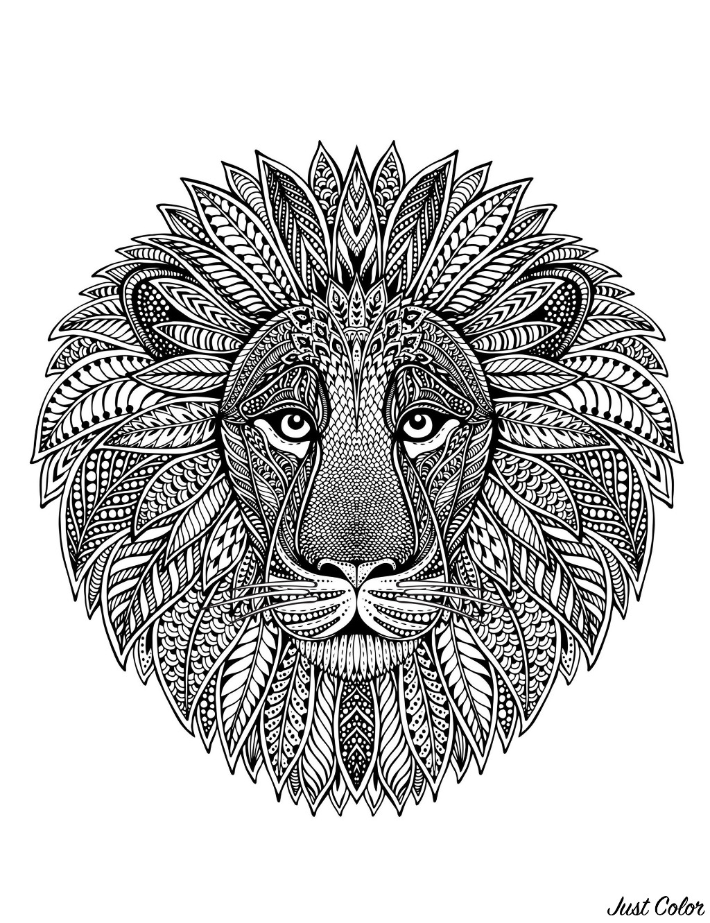 This very detailed lion head design is just waiting to be colored in this pretty original Mandala, it's up to you to print it and let your artistic sense guide you.