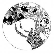 mandala-ghost-by-allan free to print