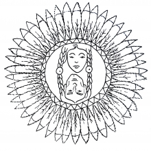 mandala-to-color-characters-indians free to print