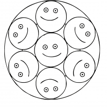 Mandalas smiley