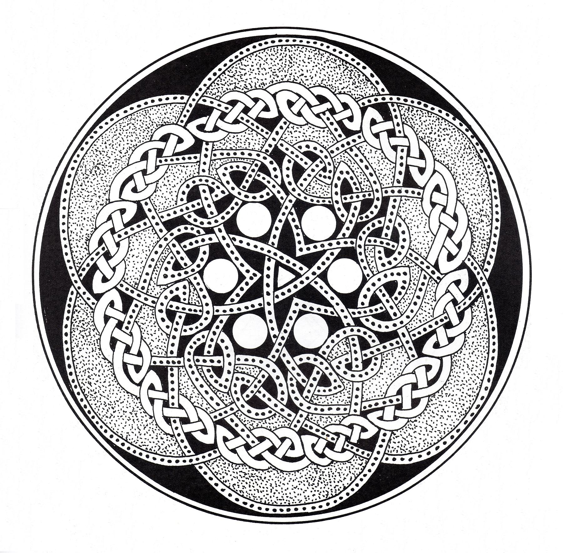 A Mandala coloring page with a lot of details, perfect if you like complex coloring pages, and if you like to express your creativity.