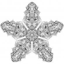 Vegetal-star-mandala-to-color-by-Anvino free to print