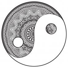 Yin and Yang Mandala to color by Snezh
