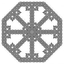 Coloring mandala celtic 3
