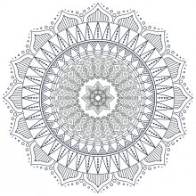 Difficult Zen & Anti stress Mandala   7