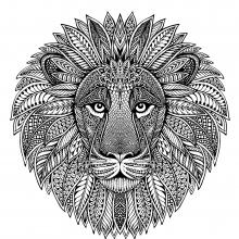 Lion head as mandala