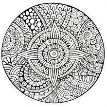 mandala complex star thick lines
