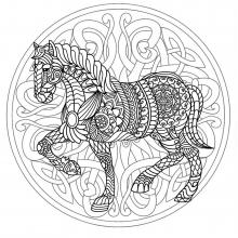 Mandala difficult horse 3