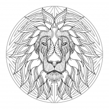 Mandala difficult lion head 4