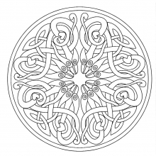 mandala to color adult difficult (17)