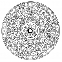 Mandala to color adult difficult (20)