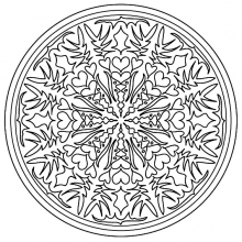 mandala to color adult difficult (26)