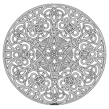 Mandala to color adult difficult (8)