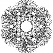 mandala-to-download-hearts-for-valentine-s-day free to print