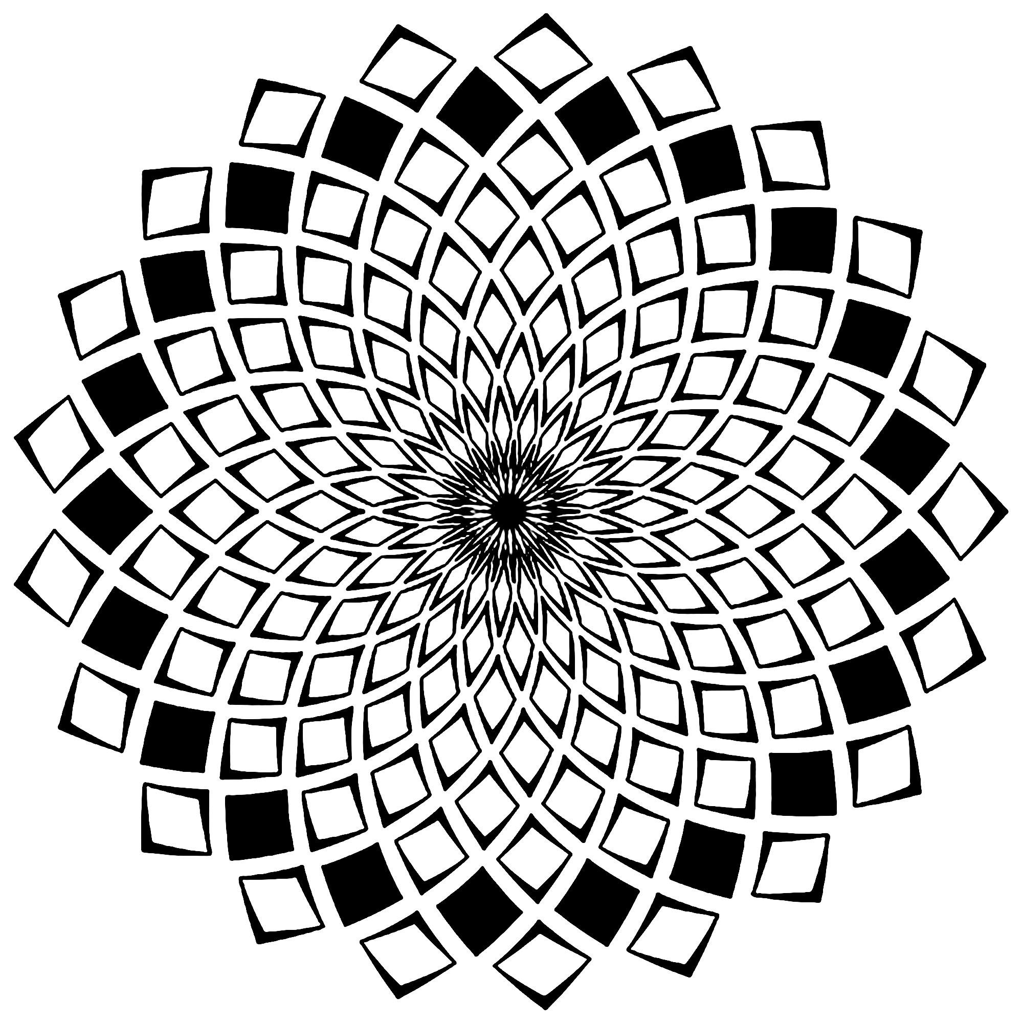 mandala complex squares difficult mandalas for adults 100