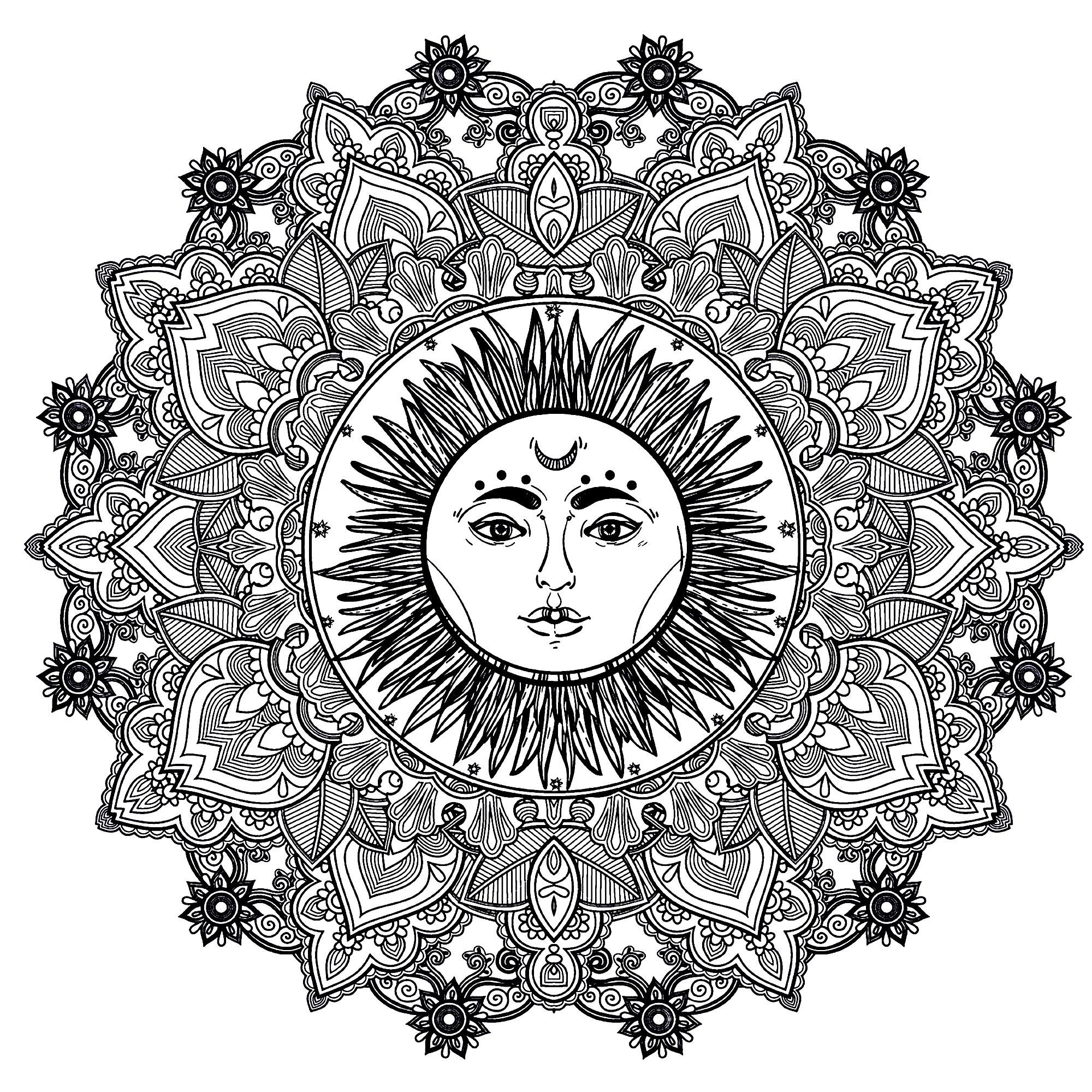 Mandala Complex Sun 123rf