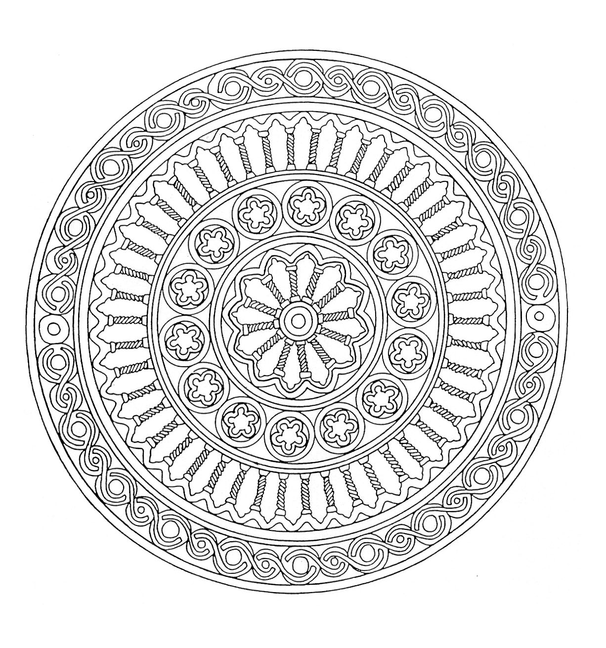 5 on Geometric Coloring Pages