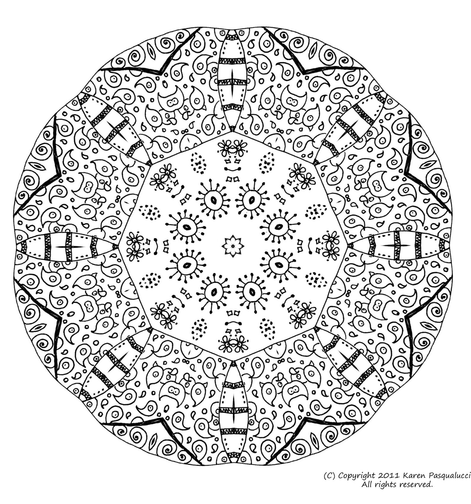Mandala to color difficult 16 - Difficult Mandalas (for ...