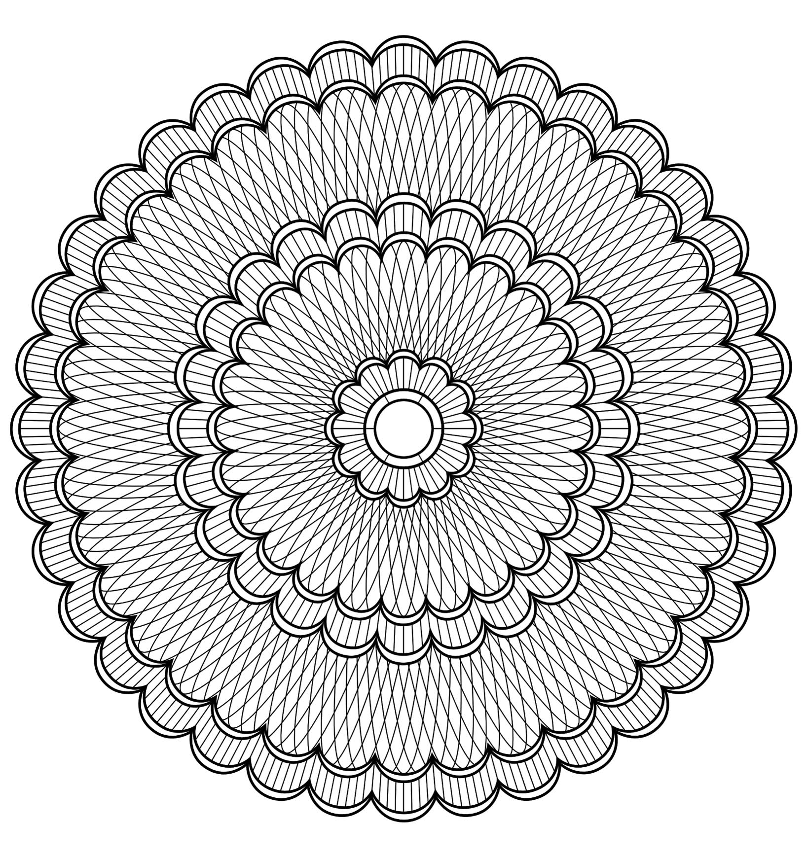 Anti Stress Kleurplaten Dieren Mandala To Color Difficult 19 Difficult Mandalas For
