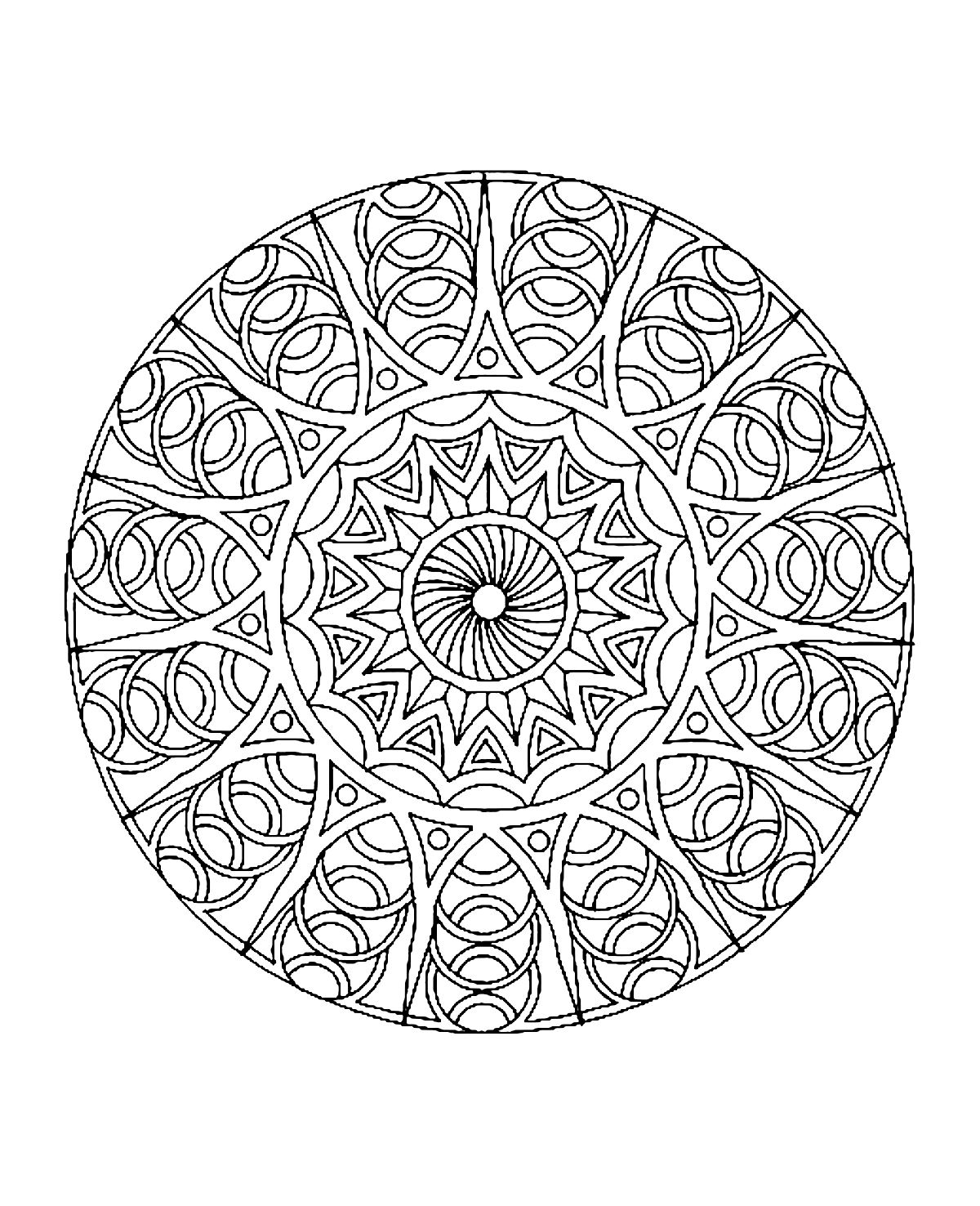 Mandala To Color Difficult 4 From The Gallery