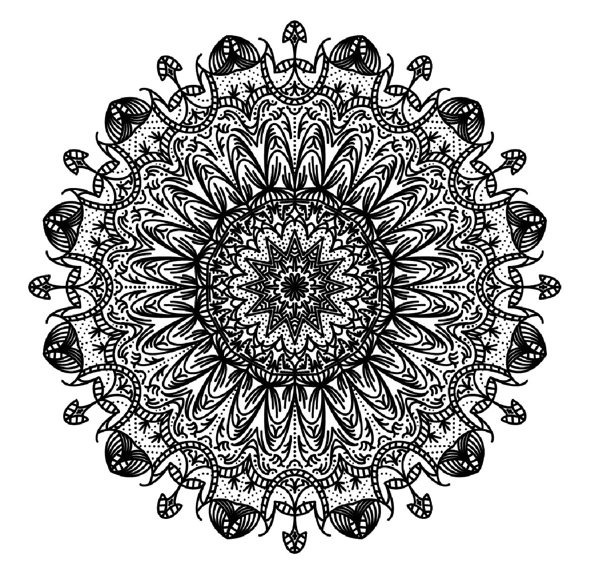 Hard mandala coloring pages for adults - Mandala To Download Difficult Free To Print