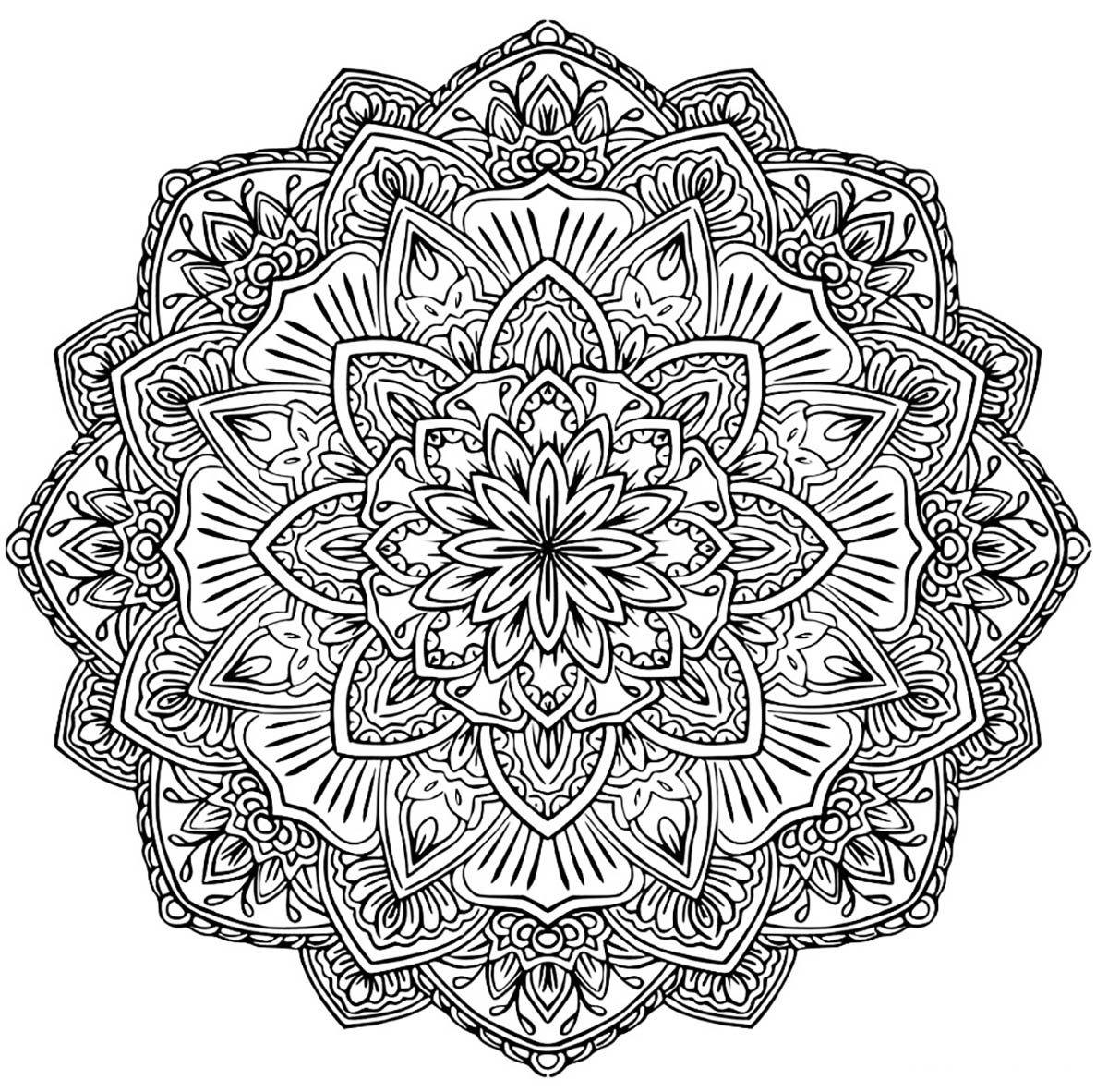 difficult mandala coloring pages - photo#24